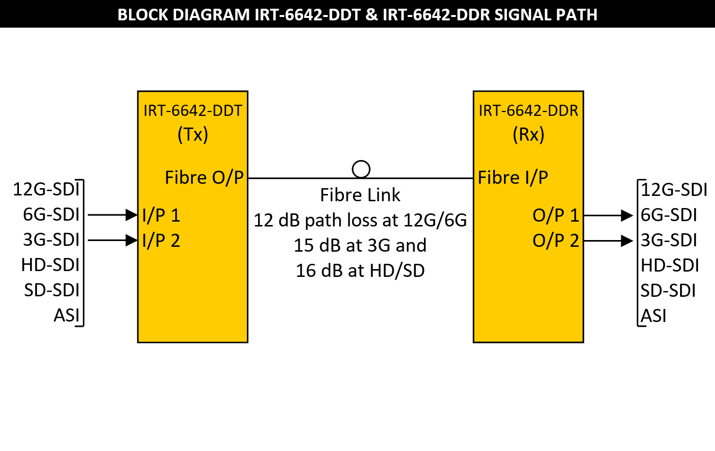IRT-6642-DDT & IRT-6642-DDR Block Diagram